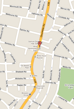 Directions to , 211-211a Gloucester Road, BS7 8NN